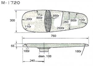 Universal Ironing Shape Mod. M-1720 For Rectangular Ironing Table Mod. FBJ-SE 130X80 CM