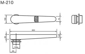 "Sleeve Ironing Buck Mod. M-210N For Bottle Ironing Table Mod. FBJ-SE ""Right Point"" 140 CM"