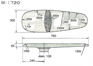 Universal Ironing Buck Mod. M-1720 For Rectangular Ironing Table Mod. FBJ 130X80